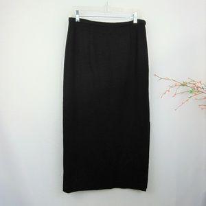 Talbots Black Maxi Skirt Wool Long Modest
